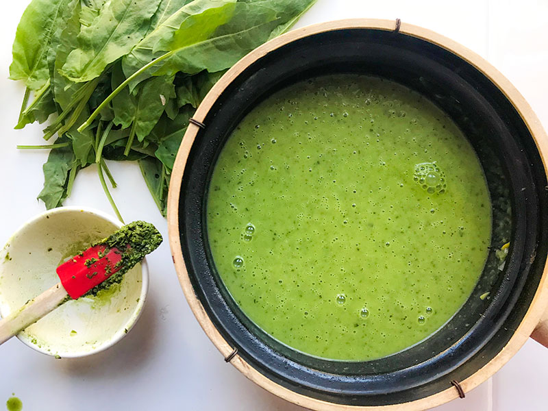 Bright, Light Sorrel Soup